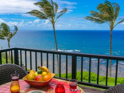 Photo for Sealodge C7: Oceanfront! Bright tropical interior, top floor privacy