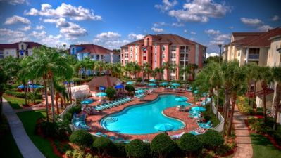 Photo for 2 BDR/2 bath modern resort condo near attractions. Fun amenities. From $129