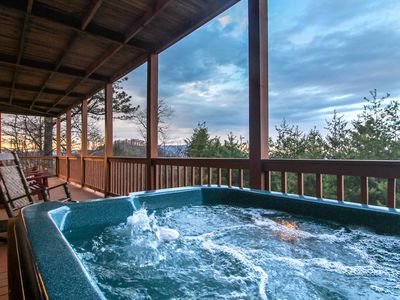 Photo for Private hot tub, game room, & more - close to Great Smoky Mtns National Park