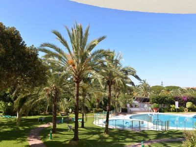 """Photo for Charming Apartment """"Excepcional estudio Playa Real"""" Close to the Beach with Sea View, Wi-Fi, Air Conditioning, Balcony & Garden"""