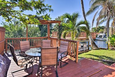 Live in the Florida tropics at this Merritt Island vacation rental home.