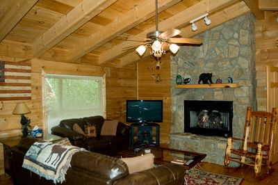 Living Area with Gas Burning Fireplace
