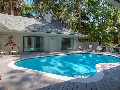 Photo for 3 Laughing Gull - 4th Row Renovated Beach Home in Sea Pines w/ Private Pool