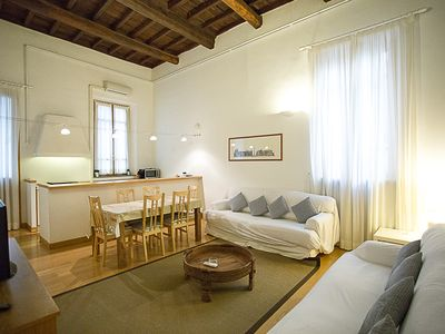 Photo for Great and stilish apartment located literally in the heart of Rome, at Via dei Banchi Nuovi.