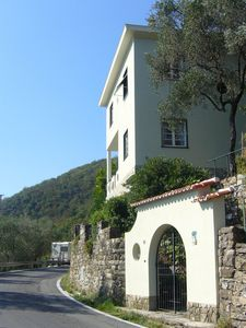 Photo for Ca 'dei Pini, house and garden with wonderful views down to the sea