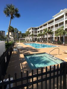 Photo for 2 Bdr. 2ba. Sleeps 6 Condo With Beach Access, Resurfaced Pool and Hot tub, BBQ.