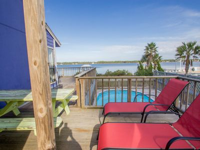 Photo for Lagoon Front - Private Pool & Private Boat Dock!