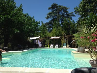 Photo for Luberon cottage of charm 4 people in Mas with private garden, spa, swimming pool