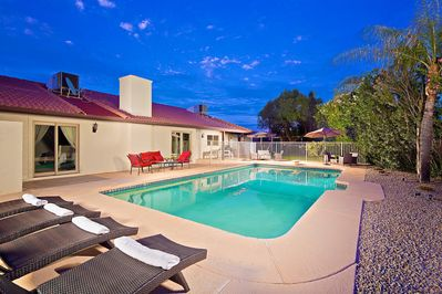 Relax in your very own private heated pool with Plenty of outdoor seating.