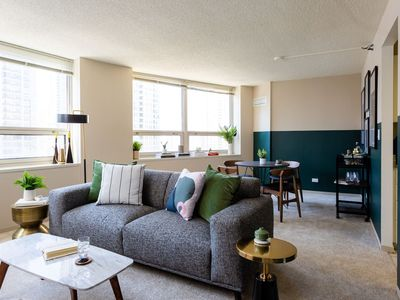 Photo for Modern 2BR/2BA Apt in Mag Mile by Domio