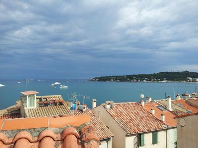 Photo for Antibes 90m2 + 30m2 quiet terrace with a magnificent Sea View