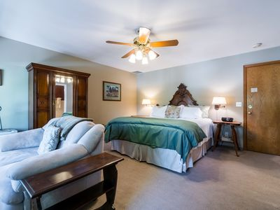 Photo for Romantic waterfront rental w/ private balcony with view - close to Leavenworth