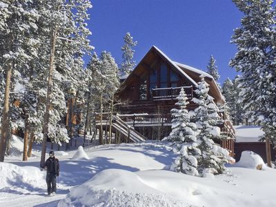 Photo for Dramatic Log home with beautiful Breckenridge views, hot tub and more!