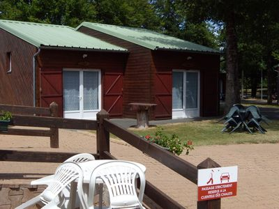 Photo for Chalets located in the heart of the Moulière forest, 12 minutes from the Futuroscope.