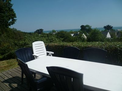 Photo for large house 100m from the sea beach view 8 people all comfort handicap access