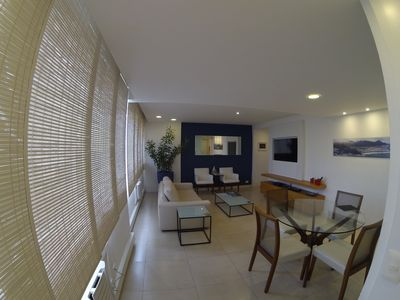 Photo for The Place Leblon DELUXE 100m2 02 suites. 2nd block from the beach. 12x Without Interest !!!