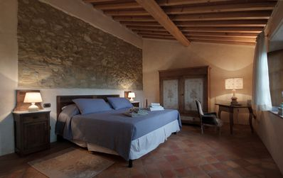 Photo for A gorgeous double room in a stunning Tuscan farmhouse Podere Ripi : La Loggia