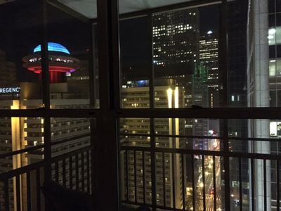 View from the completely private balcony of penthouse