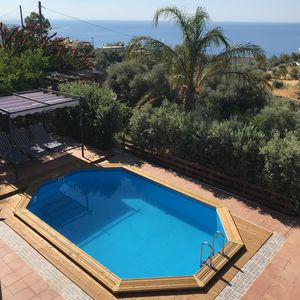 Photo for Stone villa with pool and beautiful sea views in the South of Crete