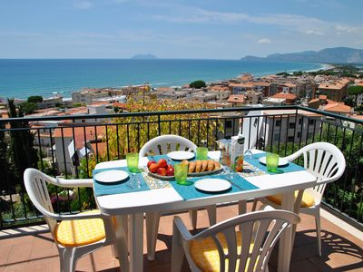 Photo for Sunset over the sea in the center of Sperlonga amazing sea view apartment