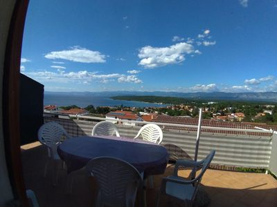 Photo for Three bedroom apartment with terrace and sea view Njivice (Krk)
