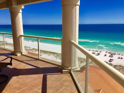 South balcony wraps around to the west and offers amazing views of Gulf & sunset
