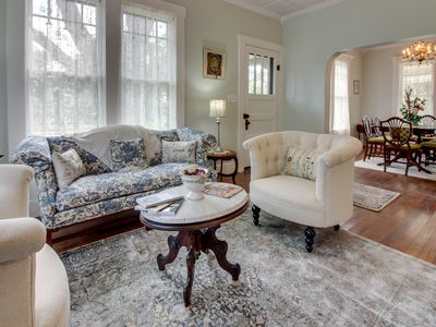 Photo for NEW LISTING! Elegant home w/indoor/outdoor fireplaces-walk to Main St, dogs ok