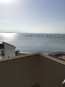 The view from the roof terrace- Sea on 3 sides!