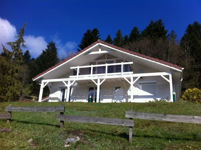 Photo for CONTEMPORARY CHALET WITH POOL EXT, SPA, SAUNA GERARDMER