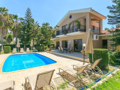 Photo for Villa Stefanos: Large Private Pool, Walk to Beach, A/C, WiFi, Eco-Friendly