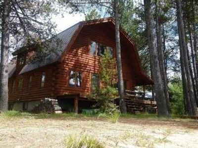 Photo for Dawn Lakeside Log Cabin on Cascade Lake w/ Private Dock and Beach