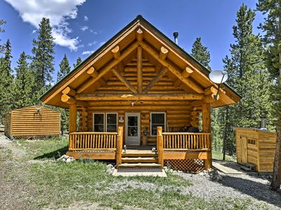 Photo for Secluded Log Cabin with Sauna and Sleeping Loft!