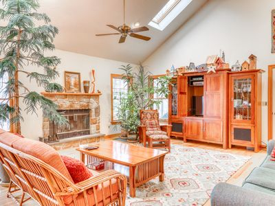 Photo for Spacious family home with ski views, wood fireplace & pool table!