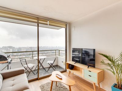 Photo for Acogedor departamento con vista a la ciudad y piscina - Cozy apt with city view