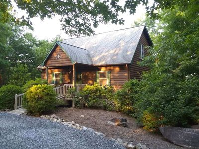 Photo for Log Cabin With Game Room, Mountain Views, 1/4 Mile From Hiking Trails
