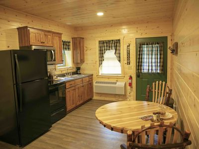Photo for New! Cabin Suite with Kitchen, Fireplace, Living Room, King Master Bedroom