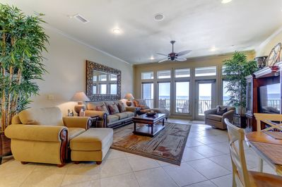 Open concept living right on the Gulf