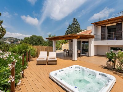 Photo for Fantastic Villa Joy Close to the Beach with Sea View, Whirlpool, Garden & Balcony; Garage Available