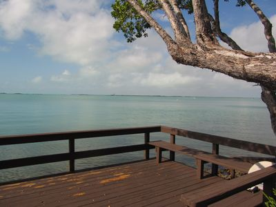 Photo for Florida Bay sunset view from townhouse. Buttonwood Bay Condo CC-6
