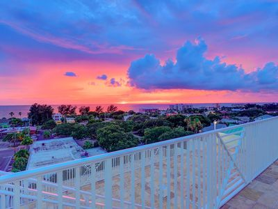 Views from the 7th floor community balcony and 6th too at sunset - faces west