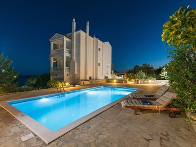 Photo for Seafront Villa Amvrosia, with pool