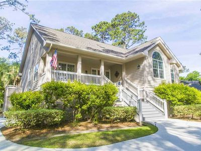 Photo for 8 Swing About | Newly Renovated | Large Screened Porch | Private Pool | Golf View | Palmetto Dunes