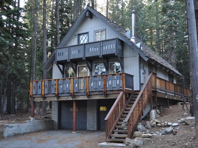 Photo for Secluded Cabin in the Pines. Garage, Hot Tub, Washer/Dryer. Skiers Retreat!