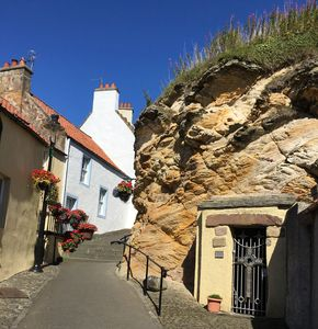 One of the prettiest wynds in Pittenweem with St Fillans cave