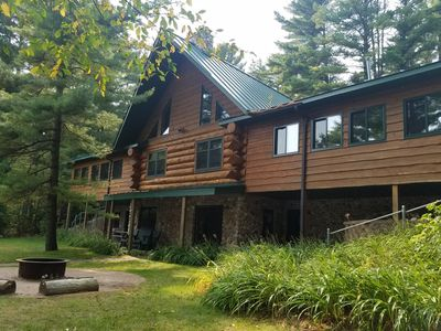 Photo for Spacious Log Lodge on Beautiful Lake Katherine