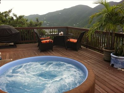 Watch the stars at night in the privacy and seclusion of your hot tub