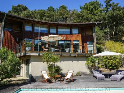 Photo for ROSE wooden villa with swimming pool located in the heart of Seignosse golf, near beaches