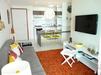Photo for Amazing apt on the seafront of Boa Viagem with rooftop pool and sea view