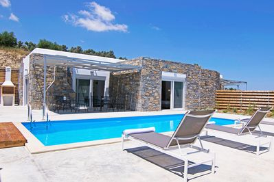 kalostous villa in agia triada rethymno crete pool and exterior view