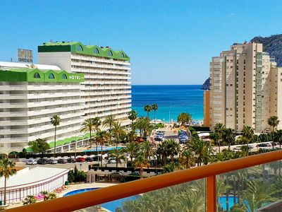 Photo for Ambar27D - Apartment with pool and sea views near the beach in Calpe